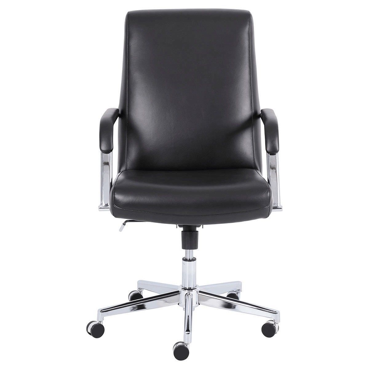 super popular 5fc1c f8993 True Innovations Top Grain Black Leather Manager Chair